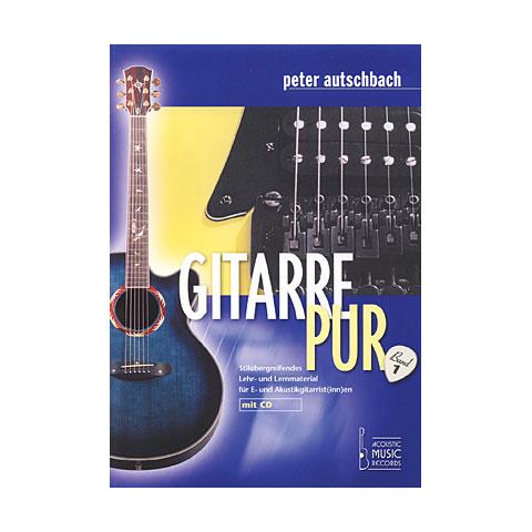 Libros didácticos Acoustic Music Books Gitarre Pur (Band 1). Stilübergreifendes Lehr- u. Lernmaterial für E- u. Akustik