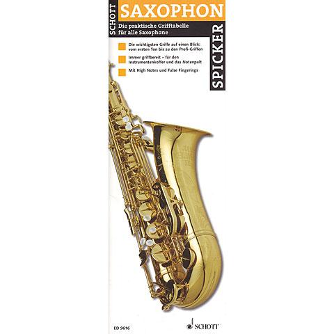 Lehrbuch Schott Saxophon Spicker