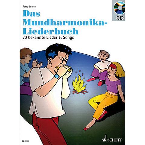 Libro de partituras Schott Mundharmonika spielen - mein schönstes Hobby Das Mundharmonika-Liederbuch