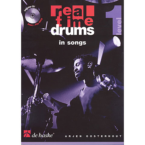 Play-Along De Haske Real Time Drums in Songs (D)