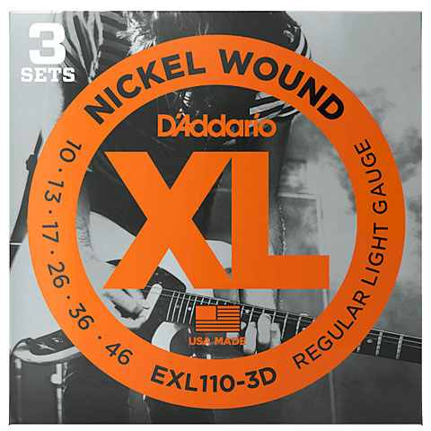 ... strings for electric guitars d addario exl110 3d nickel wound 010 046