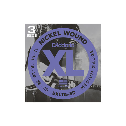 D'Addario EXL115-3D Nickel Wound .011-049