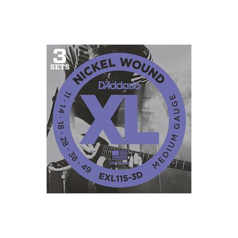 D'Addario EXL115-3D Nickel Wound .011-049