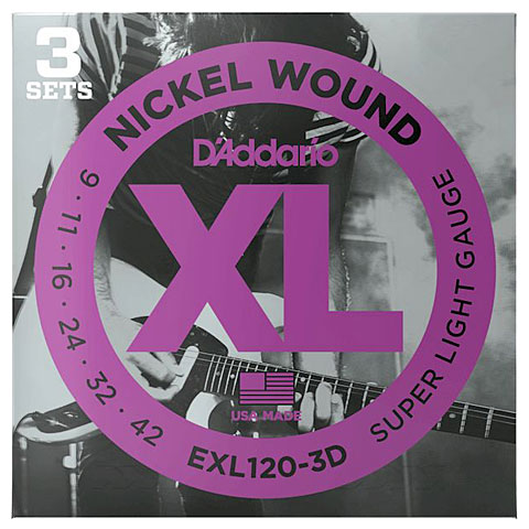 D'Addario EXL120-3D Nickel Wound .009-042