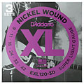 Cuerdas guitarra eléctr. D'Addario EXL120-3D Nickel Wound .009-042