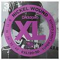 Saiten E-Gitarre D'Addario EXL120-3D Nickel Wound .009-042