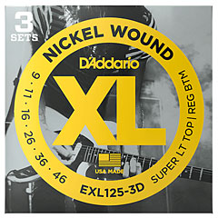 D'Addario EXL125-3D Nickel Wound .009-046 « Corde guitare électrique