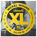 Corde guitare électrique D'Addario EXL125-3D Nickel Wound .009-046