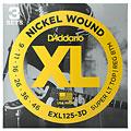 Corde guitare électrique D'Addario EXL125-3D Nickel Wound .009-046