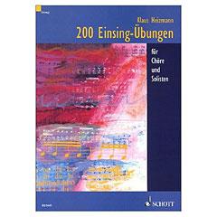 Schott 200 Einsing-Übungen « Chornoten