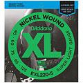 Set di corde per basso elettrico D'Addario EXL220-5 Nickel Wound .040-125