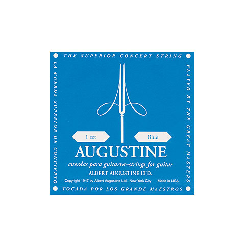 Single string Acoustic Guitar Augustine Classic Blue E6