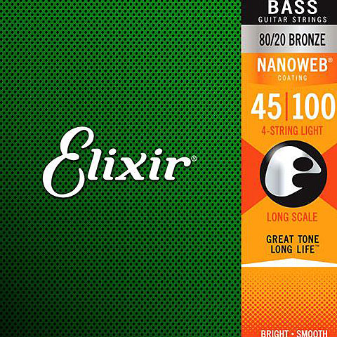 Elixir Nanoweb Light Long-scale .045-100