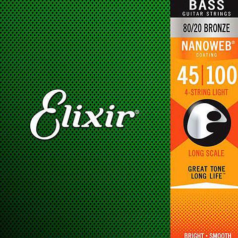 Elixir Nanoweb Light Long Scale .045-100