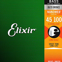 Elixir Nanoweb Light Long Scale .045-100 « Corde basse acoustique