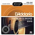 Струны для акустической гитары  D'Addario EXP10 .010-047