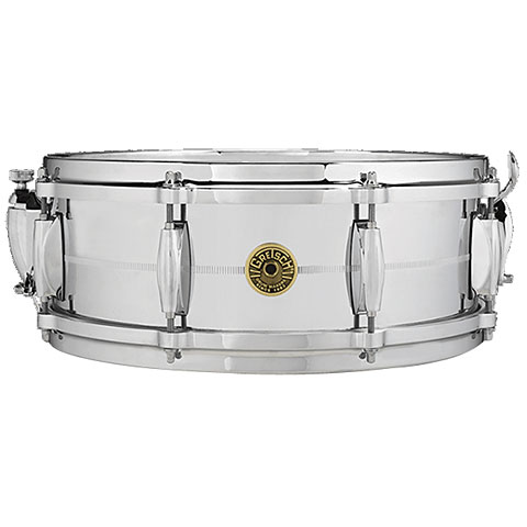 "Gretsch Drums USA 14"" x 5"" Chrome over Brass Snare"