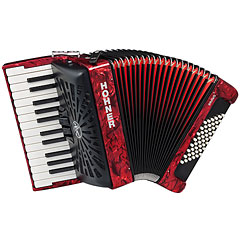 Hohner Bravo II 48 Red silent key « Accordéon à touches