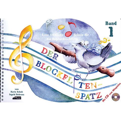 Leerboek Schuh Der Blockflötenspatz Bd.1 (+CD)