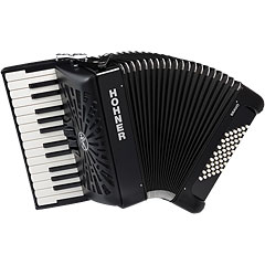 Hohner Bravo II 48 Black silent key « Piano Accordion