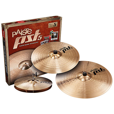 Pack de cymbales Paiste PST 5 Universal 14HH/16C/20R Cymbal Set