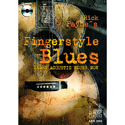 Libros didácticos Acoustic Music Books Rick Payne's Fingerstyle Blues