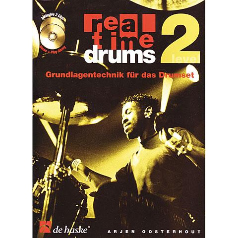 Lehrbuch De Haske Real Time Drums 2 - Grundlagentechnik für das Drumset