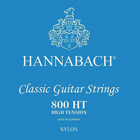 Cuerdas guit. clásica Hannabach 800 HT Blue