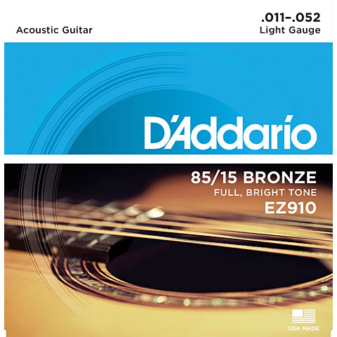 Cuerdas guitarra acúst. D'Addario EZ910 .011-052