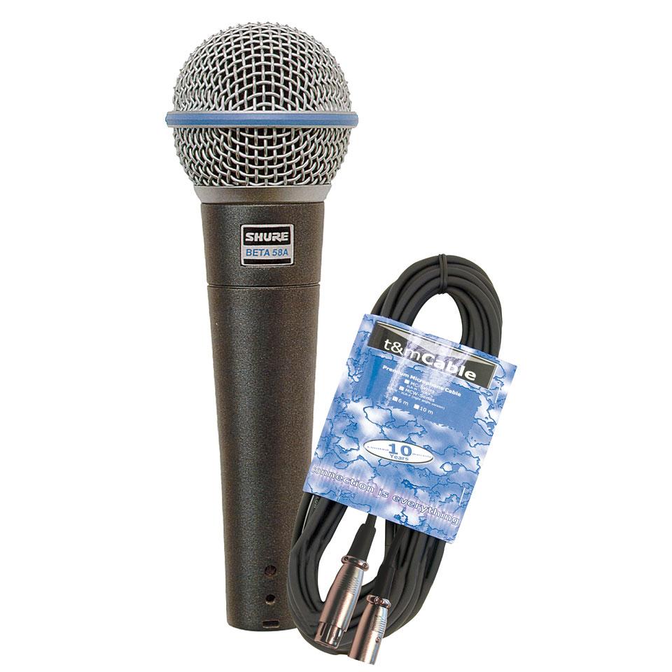 Microphone Shure Beta 58A Kabel Set