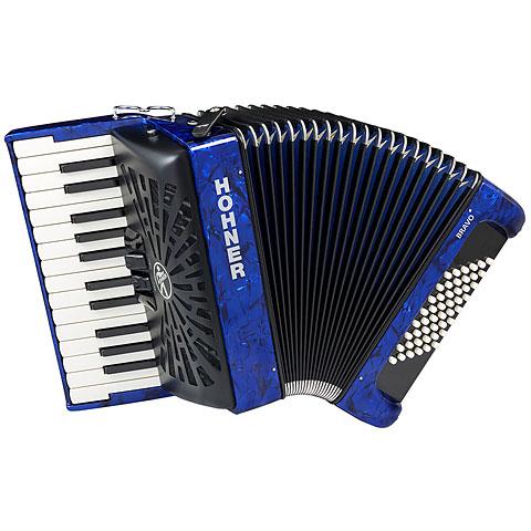 Acordeón de teclado Hohner Bravo II 48 Blue silent key