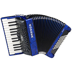 Hohner Bravo II 48 Blue silent key « Accordéon à touches