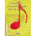 Teoria musicale Hage Notenblock Manuscript Paper