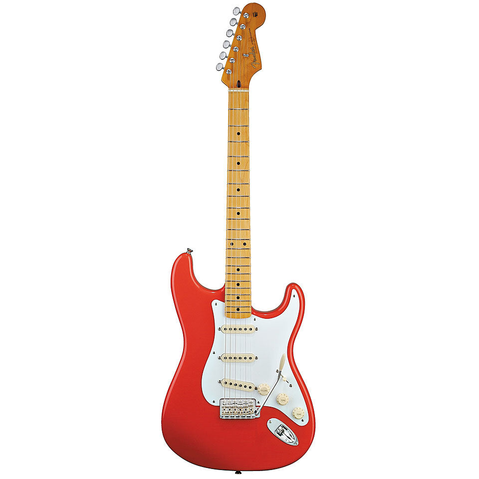 fender classic series 50s stratocaster fiesta red electric guitar. Black Bedroom Furniture Sets. Home Design Ideas