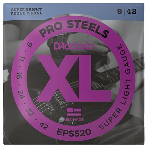 Cuerdas guitarra eléctr. D'Addario EPS520 Pro Steels .009-042