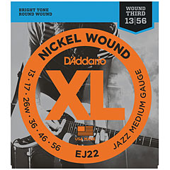 D'Addario EJ22 Nickel Wound .013-056 « Corde guitare électrique