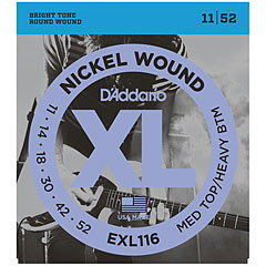 D'Addario EXL116 Nickel Wound .011-052 « Corde guitare électrique