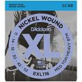 Cuerdas guitarra eléctr. D'Addario EXL116 Nickel Wound .011-052