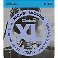 Corde guitare électrique D'Addario EXL116 Nickel Wound .011-052