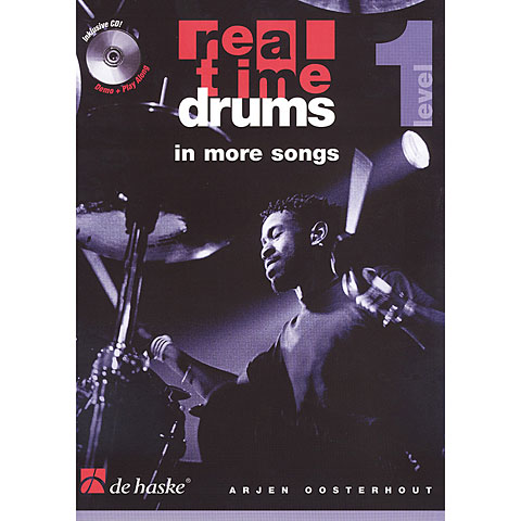 Play-Along De Haske Real Time Drums in More Songs (D)
