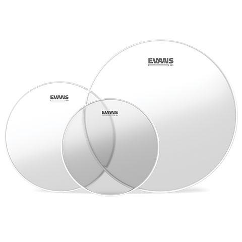 Juego de parches Evans Genera G1 Clear 10/12/14 Fusion Set