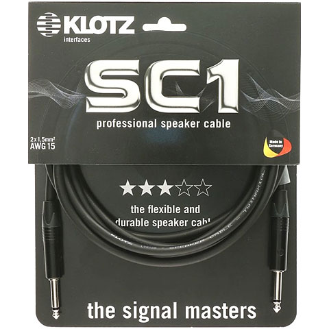 Klotz Basic 6.3 mm Klinke, 2 m