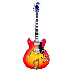 Hagstrom Viking Deluxe Amber Burst  «  Electric Guitar