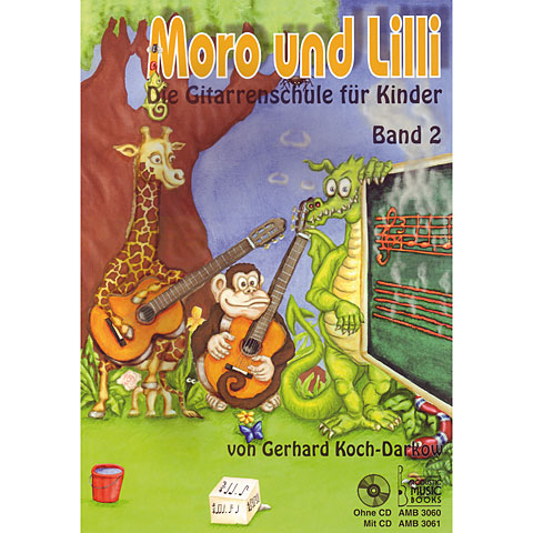 Instructional Book Acoustic Music Books Moro und Lilli Bd.2 + CD