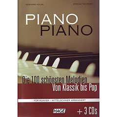 Hage Piano Piano 1 (Mittelschwer) + 3 CDs « Libro de partituras