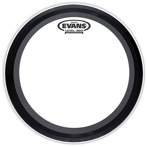 "Bass-Drum-Fell Evans EMAD-2 Clear 18"" Bass Drum Head"