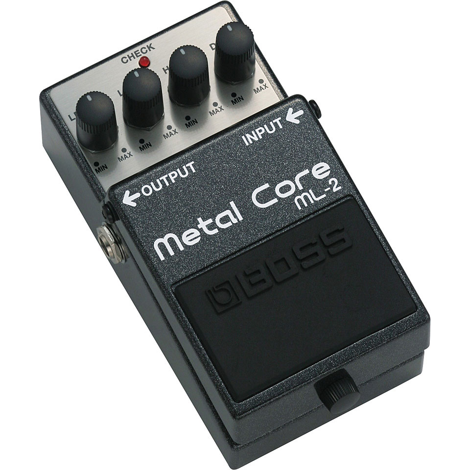 Ampli e pedal de guitarra no baixo. Guitar-bass-effects-guitar-effects-boss-ml-2-metal-core