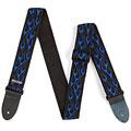 Gitarrengurt Dunlop Nylon Gurt flames blau