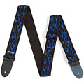 Sangle guitare/basse Dunlop Nylon Gurt flames blau