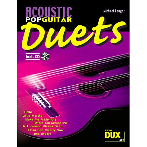 Notenbuch Dux Acoustic Pop Guitar Duets